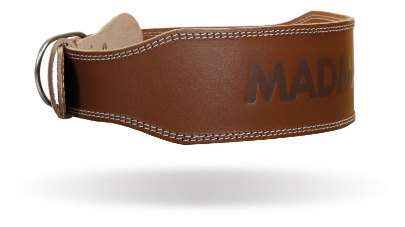 MAD MAX MFB-246 full leather chocolate brown belt