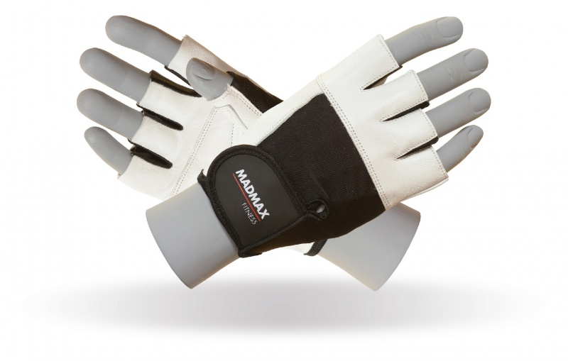 MAD MAX MFG-444 fitness white gloves