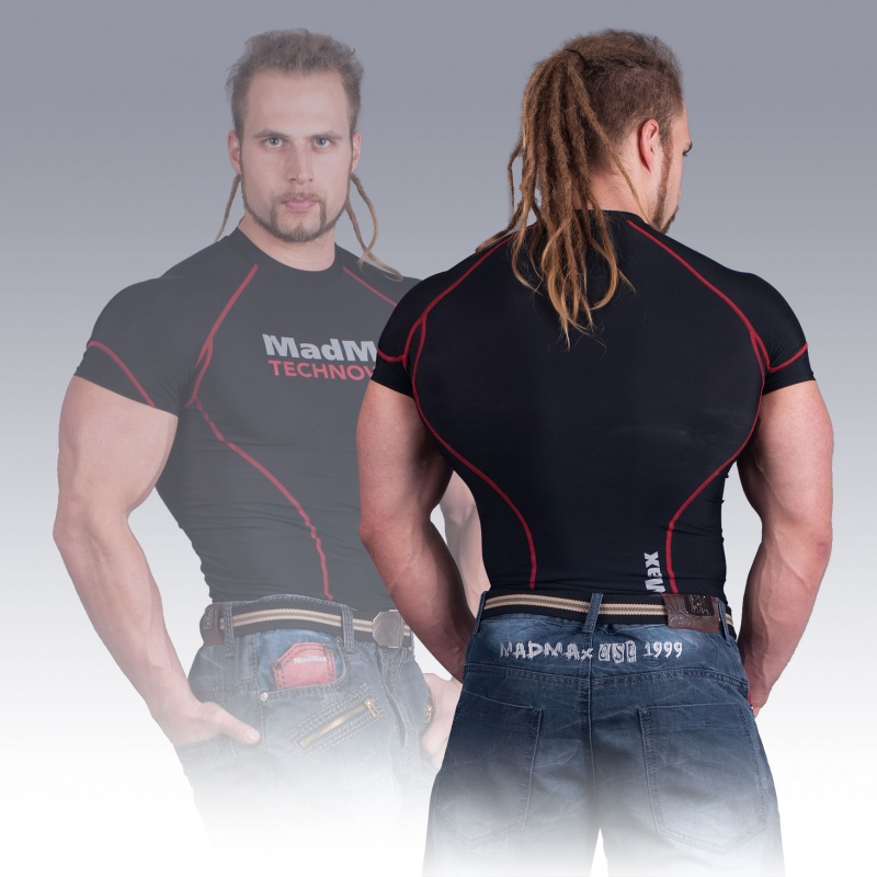 MSW-901 Compression Short Sleeve Top Red